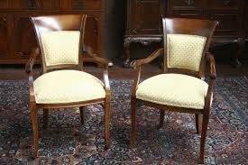 classic upholstered dining chairs with arms