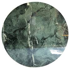 italian round green marble table top for