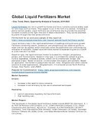 Market Research Awesome Liquid Fertilizers Market Price Industry Trends Of Market Research R