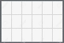 Stamps Template Perforated Sheet Of Postage Stamps Blank Marks Template For