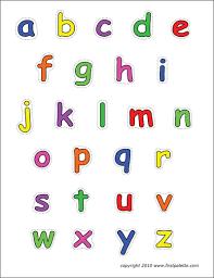 alphabet lower case letters free