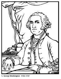 Small Picture Free Coloring Pages for Kids George Washington Our First