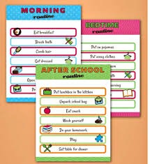 Kids Daily Routine Chart Kids Daily Routine Charts Saving Dollars Sense