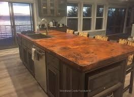 hand hammered copper counter top