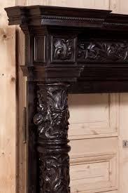 antique italian baroque fireplace mantel surround 2