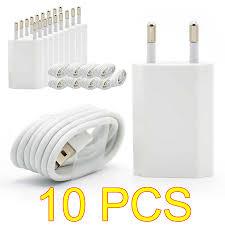 <b>10PCS Lot</b> Travel Wall USB Charging Charger For <b>Apple iPhone</b> 7 6 ...