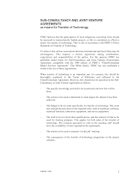 Consulting Agreement In Pdf Subconsultancy Agreement 24st Ed 24992 International Federation 1