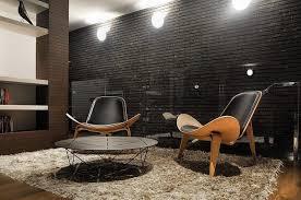 15 living room designs with black brick