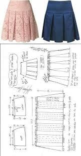 Pleated Skirt Pattern Interesting Saia Com Pala E Pregas Macho Ropa De Niña Con Moldura Pinterest