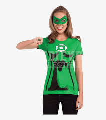 womens green lantern t shirt with mask and ring easy diy green lantern superhero costume