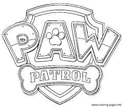 Small Picture Paw Patrol Logo Coloring Pages Printable