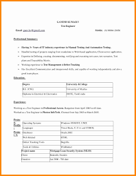 Resume Format On Word 2010 Resume For Study
