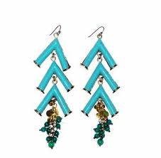 ladae chandelier earrings turquoise blue