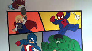 Marvel Comic Bedroom Lego Marvel Superhero Boys Bedroom Mural Youtube