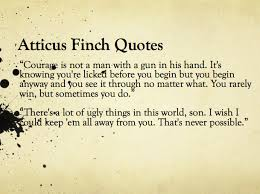 Atticus Finch Quotes Fascinating Atticus Finch Quotes With Page Numbers