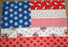 Personal Flag Quilt American Flag Block - Freda's Hive & I used all the same star fabric but mixed in some reds and lights for the  strips with different fabrics. Adamdwight.com