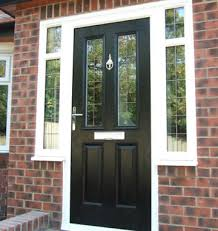 black front doorComposite  uPVC Entrance Doors in Yorkshire  K Glazing