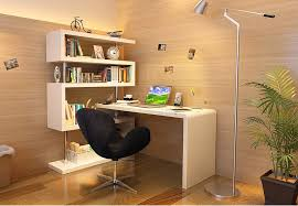 kd02 office desk with tall book shelves