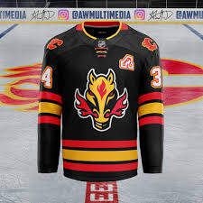 $54.99 flames jj cgy 2.0 cap. Calgary Flames Alternate Concept That Uses The Striping Patterns From Their Full Retro Home And Away Jerseys And Brings Back The Horse Head Logo Hockeyjerseys