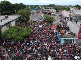 Image result for Migrant caravan halted on Mexico-Guatemala border, pressure to turn back mounts
