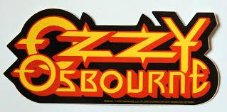 Vactorizado y exportado en versión *.png de alta resolución. Ozzy Osbourne Logo Sticker