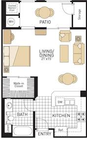 Small One Bedroom Apartment Floor Plans 17 Best Ideas About Apartment Floor Plans On Pinterest Apartment