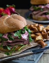 gross roast beef sandwich.  Roast Strawberry And Goat Cheese Roast Beef Sandwich Intended Gross 3