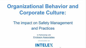 organizational behavior and corporate culture the impact on  organizational behavior and corporate culture the impact on safety management and practices peer resource intelex community