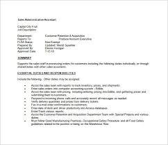 Administrative Assistant Job Description Template 8 Free Word