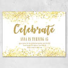 Celebrate Adult Birthday Invitation