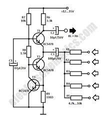 simple audio mixer circuit simple audio mixer circuit schematic