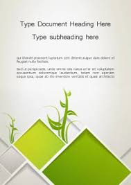 Word Template Cover Page Abstract Greenhouse Concept Word Template 12694 Poweredtemplate Com