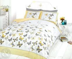 girls erfly bedding reversible polka dot cotton rich duvet cover bed set yellow grey yellow polka