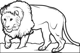 Small Picture Free Printable Male Lion Coloring Page for Kids
