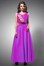 readymade lehengas online shopping buy readymade lehengas violet neo silk crop top violet neo silk lehenga