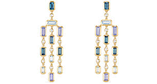 david yurman novella earrings in 18 karat yellow gold with blue topaz tanzanite and diamonds 5 200