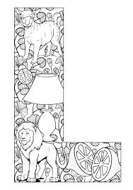 Small Picture Things that start with L Free Printable Coloring Pages