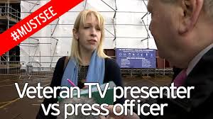 awkward moment government spin doctor halts journalist s interview video thumbnail do you want to do the interview instead veteran broadcaster