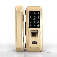 china electronic smart fingerprint security intelligent digital secret code safe glass sliding door locks china smart glass door locks electronic locks