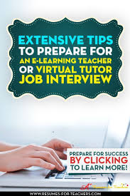 die besten 17 bilder zu career transition into education preparing for an e learning teacher or tutor job interview