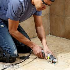 this oscillating tool makes removing grout easier