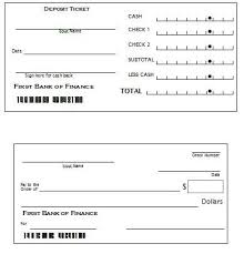 printable deposit slips printable checks and deposit slips wioa youth financial education