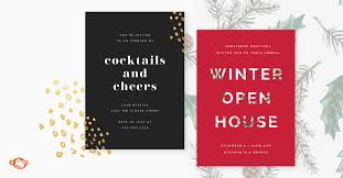 holiday party invitations for business