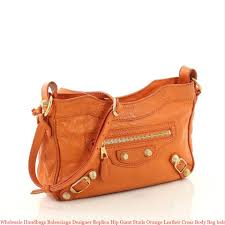 whole handbags balenciaga designer replica hip giant studs orange leather cross bag balenciaga replica bag mini