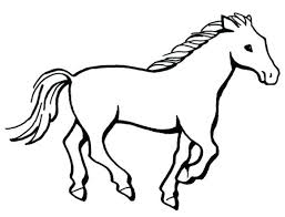 Wild Horses Coloring Pages Coloring Pages Of Horses Simple Horse