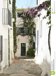 Traditionelles Cadaques Haus Mit Grünen Fensterläden Stockfoto