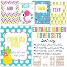 Free Printable Binder Covers Editable School Bityar Co