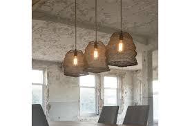 set of 3 antiqued bronze hanging basket pendant lamps photo 1