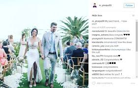 Wedding Photo Captions Michael Phelps Has Beach Wedding Months After Legal Marriage San