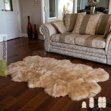 spring lamb lambskin rug 4 pelt quarto honey color